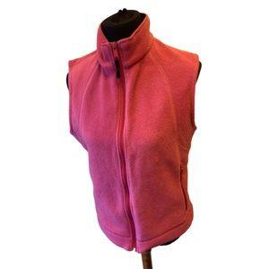 Women's Red Columbia Fleece Vest